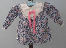 SUGAR BABY Size 24 Months Multi-Color Long Sleeve Blouse (Made in Canada)