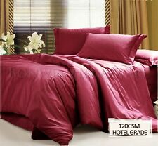 NEW HOTEL QUALITY 1000+ WRINKLE FREE EASYCARE QUEEN BED SHEET SET - CHERRY RED