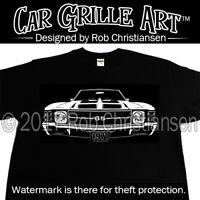 Car Grille Art™ T-Shirt, 1971 Chevelle SS, 71, El Camino, Tee Shirt
