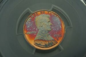 Rainbow Toned -- 1996-S 1c PCGS PR69RD DCAM Lincoln cent #RT31