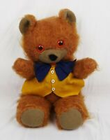 Vintage Mid Century Plush Stuffed Animal Bow Tie Teddy Bear Atlanta Novelty Co