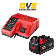 MILWAUKEE M18 3.0AH REDLITHIUM-ION BATTERY M18BX + M12-18C MULTI VOLTAGE CHARGER