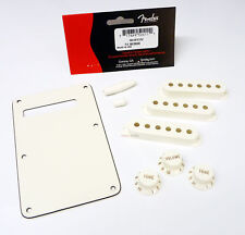 Genuine Fender PARCHMENT Stratocaster Accessory Kit - BackPlate, Knobs, Covers