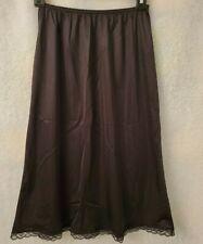"""Warner's Women Black 27"""" Length 55300 Slip Skirt Size M"""