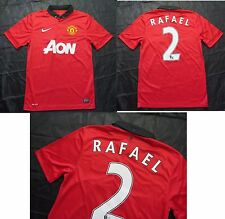Rafael da Silva #2 MANCHESTER UNITED home shirt by NIKE 2013-2014 /men/red/ S