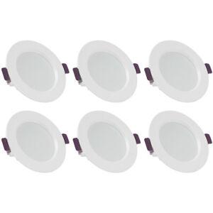 6 x LED Einbauleuchten Bad Strahler Spots ultraflach Lampe Deckenspots IP44 97mm