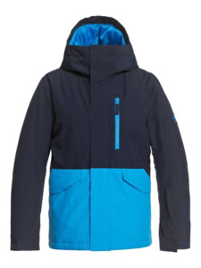 Boy's QUIKSILVER Mission Solid Snow Jacket Insulated Ski Snowboard Winter Coat