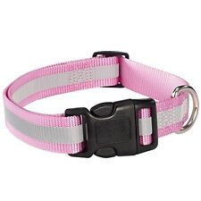 "Guardian Gear ZA9841475 Reflective Dog Collar- Fits Necks 14"" To 20""- Pink NEW"
