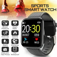 Waterproof Bluetooth Smart Watch Wrist Phone Mate For Android Samsung iPhone iOS