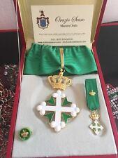 Set da Commendatore Ordine dei Santi Maurizio e Lazzaro in argento 925