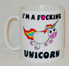 I'm A F**king Unicorn Mug Can Be Personalised Funny Swearing Rude Expletive Gift
