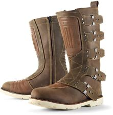 Bottes moto ICON Elsinore trajet boots vintage simili marron taille 42 NEUF