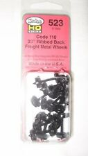 "Kadee #523 HO Scale Metal Code 110 33"" Ribbed Back Wheels Freight"