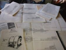 Lot - B&P Apv Process Equipment - blueprints Pusher Centrifuge Hydraulic System