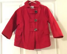 Little Girls Old Navy Red Peacoat Size 18-24 Months