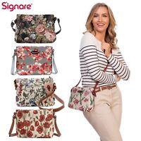 Crossbody Bag Shoulder Handbag Floral Design Signare Tapestry