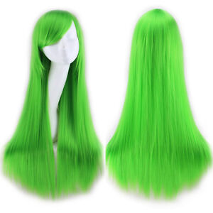 Fashion 80cm Long Straight Wigs Halloween Cosplay Costume Hair Party Full Wig