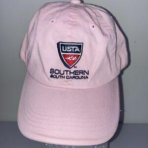 Pink Adjustable Strap Back USTA Cap Hat Port Authority 100% Cotton Southern SC