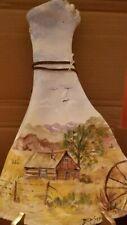BEP SCHWEND Signed Vintage Hand Painted Bovine Shoulder Prairie Scene