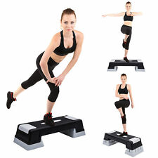 "4.7"" 6.7"" 8.7"" Aerobic Step Trainer Stepper Adjustable Exercise Fitness Workout"