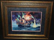 Pirates of the Carribean Framed Print - 1989 Signed by R. Tom Gilleon