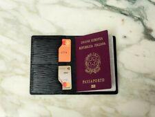 Custodia passaporto in pelle Epi Nero, portafogli, portapassaporto vuitton