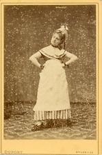 Dupont, Bruxelles, Femme en costume de paysanne, ca.1870, Vintage albumen print