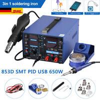 853D 3in1 Lötstation USB SMT Lötkolben Heißluftlötstation Station Entlötkolben