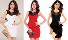 Vestiti da donna senza maniche nero corto, mini