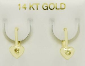 YELLOW TOPAZ DANGLING DROP EARRINGS 14k GOLD * New With Tag