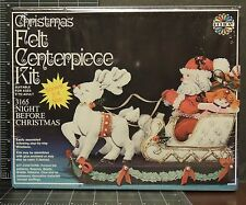 Night Before Christmas Felt Centerpiece Kit vintage arts Holiday ages 9 to adult