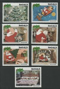 Thematic Stamps Others - ANGUILLA 1981 XMAS DISNEY short set 7V mint