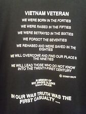 Vietnam Veterans Day FL  2XL t shirt 2012 in our war truth was the 1st casualty