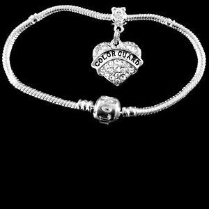 Color Guard bracelet Huge sale Color guard charm bracelet Crystal Heart