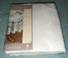 """Brand New Lace Tablecloth 70"""" Round White Floral Rose Cover Elegant Dining Table"""