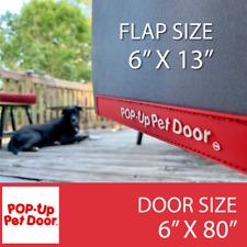 "Sm 80"" Original Pop-Up Pet Doorâ""¢ Free Shipping! For Glass & Screen Patio Doors"