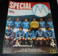 RARE FOOTBALL MAGAZINE 1972 SUPPLEMENT SPECIAL OLYMPIQUE MARSEILLE OM VELODROME