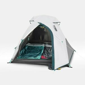 Quechua Double Tent Mh100 Fresh & Black Camping Easy Assemble 2 Person Blackout