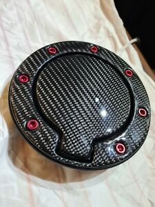 Audi TT MK1 8N Carbon Fibre Fuel Cap Red or Black Anodised Bolts