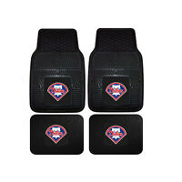 New MLB Philadelphia Phillies Car Truck Front Rear Rubber Heavy duty Floor Mats