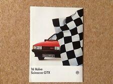 VW Scirocco GTX 16 Valve brochure Oct 1985