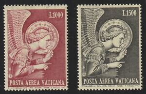 Vatican City 1968 C53-54 Archangel Gabriel by Fra Angelico - MNH