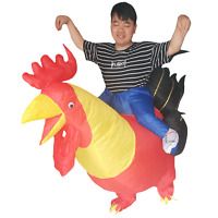 Inflatable Rooster Costume Chicken for Adult Rider Halloween Cosplay Party Dress