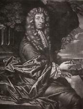 """ALEXANDER BROWNE """"SIR JOHN LOWTHER (1642-1706)"""" MEZZOTINT, CS 21, ~1685"""