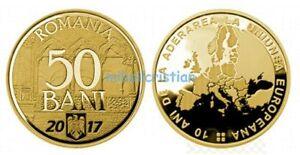 50 bani 2017 [Jubilee] 10 yr since Romania's accession to the EU + bonus