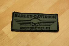Aufnäher / Patch für Harley Davidson Fan`s Big Boy HD Biker Chopper / Militär