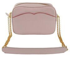 Lulu Guinness Amber Cross Body Bag Blush Pink Medium Handbag Pebbled Leather