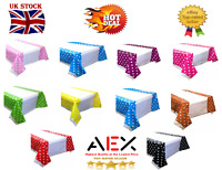 AEX Polka Dot PLASTIC TABLECOVERS Table Cloth Cloths Party Birthday Rectangle
