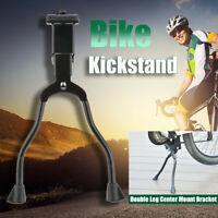 Mountain Bike Kick Stand 26'' Bicycle Folding Double Leg Center Mount Bracket