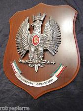Crest RARO Reggimento Corazzieri fatto a mano a colori con Tricolore carabinieri